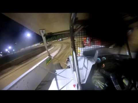 Delaware International Speedway 10 17 14 Small Block Feature Doug Manmiller in car camera