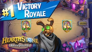 POGO HOPPER GETS THE EPIC VICTORY ROYALE (Hearthstone Battlegrounds)
