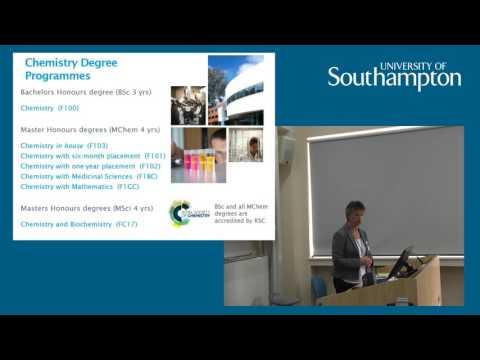 Chemistry talk, Open Day 2016 - University of Southampton