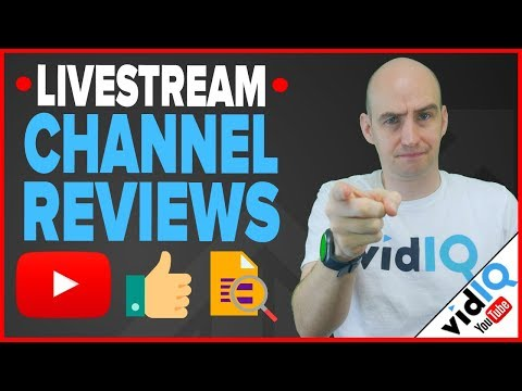 FREE YouTube Channel Reviews For More Views & More Subscribers! [LIVESTREAM]