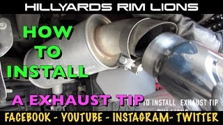 HOW TO INSTALL AN EXHAUST TIP ON A 2016 CADILLAC ESCALADE