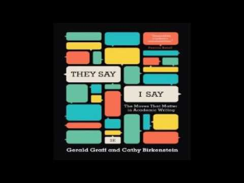 They Say I Say Audiobook By Gerald Graff Cathy Birkenstein