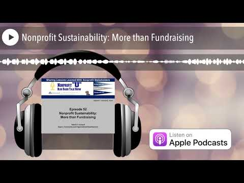 Nonprofit Sustainability: More than Fundraising