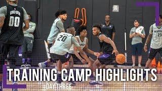 Training Camp Day 3 Highlights - Sacramento Kings | 2018-19 NBA Season