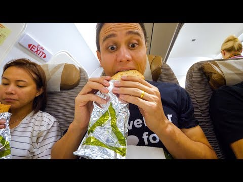 Etihad Airways FOOD REVIEW   Bangkok to Abu Dhabi UAE Airport to Karachi!