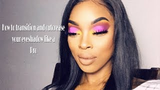 makeup101 how to transition colors and cut crease
