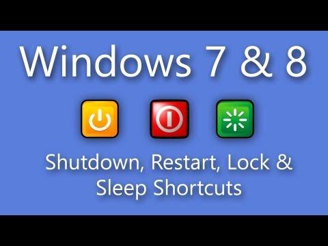 Windows 7 / 8 Shutdown, Restart, Lock & Sleep Shortcuts