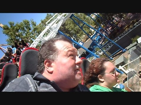 Millenniumforce Crew Rides Revolution Coaster Six Flags Magic Mountain