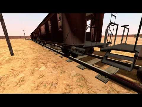 gmod train runs over scout
