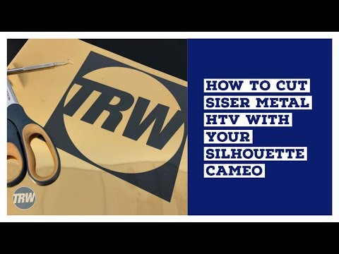 How to Cut Siser Metal HTV With Your Silhouette CAMEO