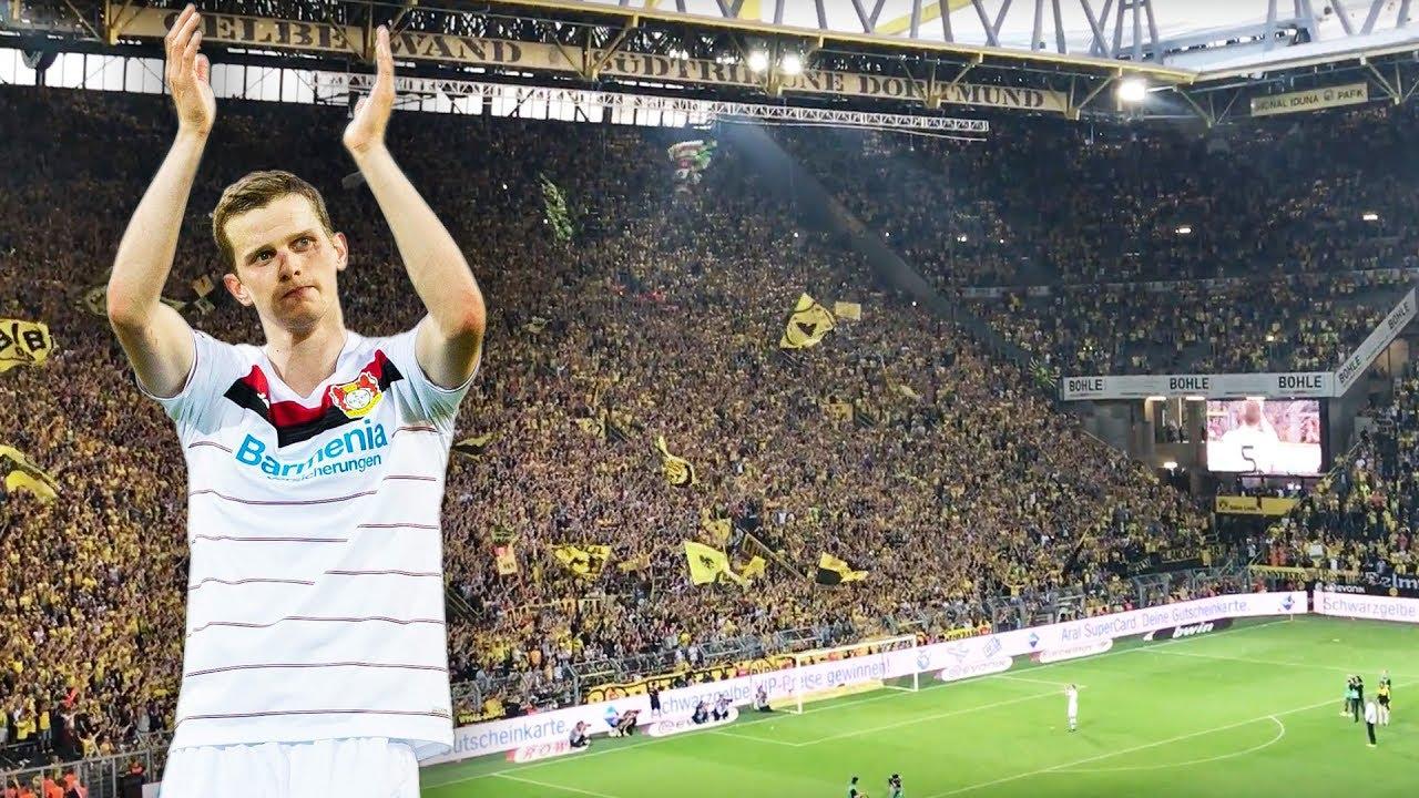 BVB-Fans feiern Sven Bender im Leverkusen-Trikot |