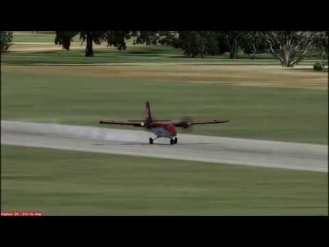 RCQC Magong Airport Runway 02 Landing