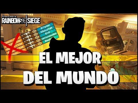 REACCIONANDO AL MEJOR JUGADOR DEL MUNDO | Caramelo Rainbow Six Siege Gameplay Español