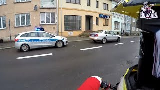 illegal urban ride | MOTOSANTA | SUZUKI DRZ400SM | crash, police, fun!