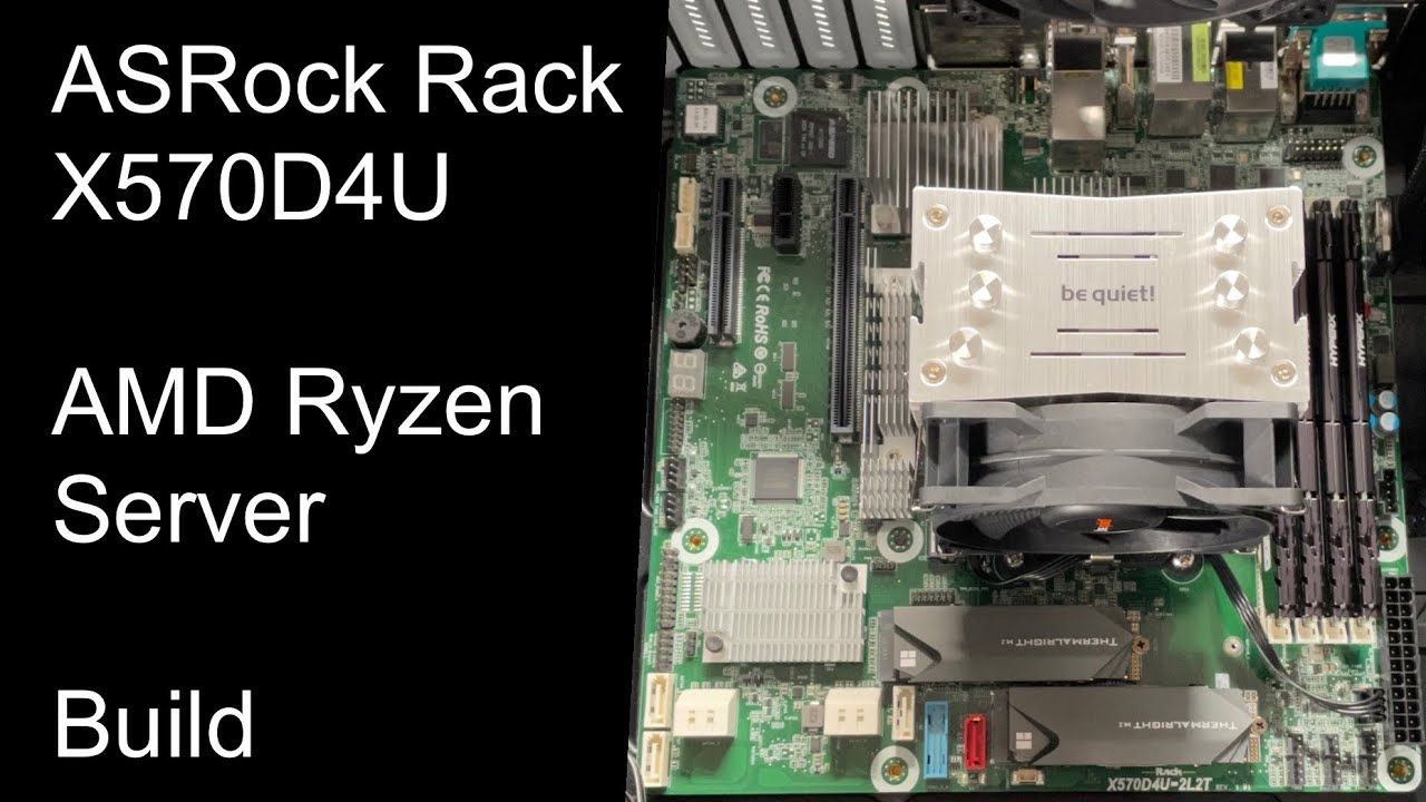 ASRock Rack X570D4U - AMD Ryzen Server - Build-Video