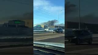 Черный дым над Астаной: пожар в районе рынков