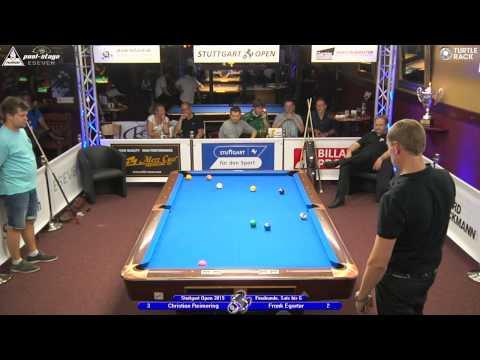 Stuttgart Open 2015, No. 20, 1/32 Final, Reimering vs. Egerter, 10-Ball, Pool-Billard