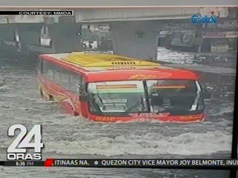 24 Oras: Kahit bus, lubog sa baha sa gitna ng kalsada