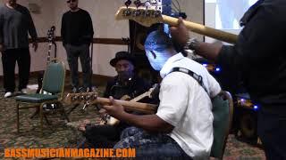 Bass Musician Magazine NAMM 2018 -  Marcus Miller, Marcus Fletcher & Darryl C Anders
