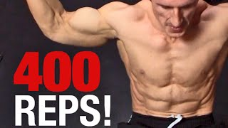 bodyweight ab workout 400 reps in 8 minutes