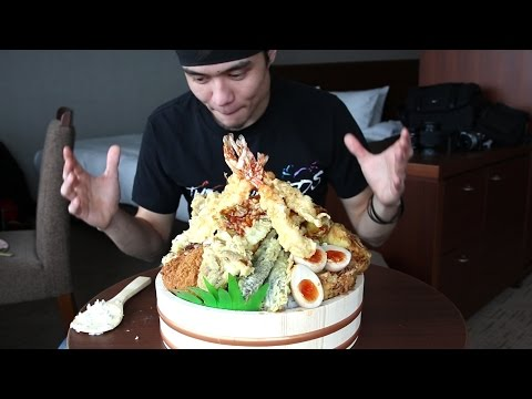 GIANT Tempura Don Challenge | Tokyo (非常に大きい天丼食いチャレンジ)