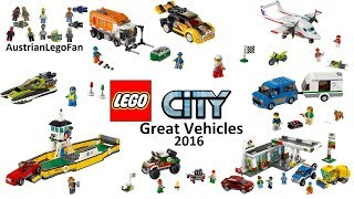All Lego City Great Vehicles 2016 - Lego Speed Build Review