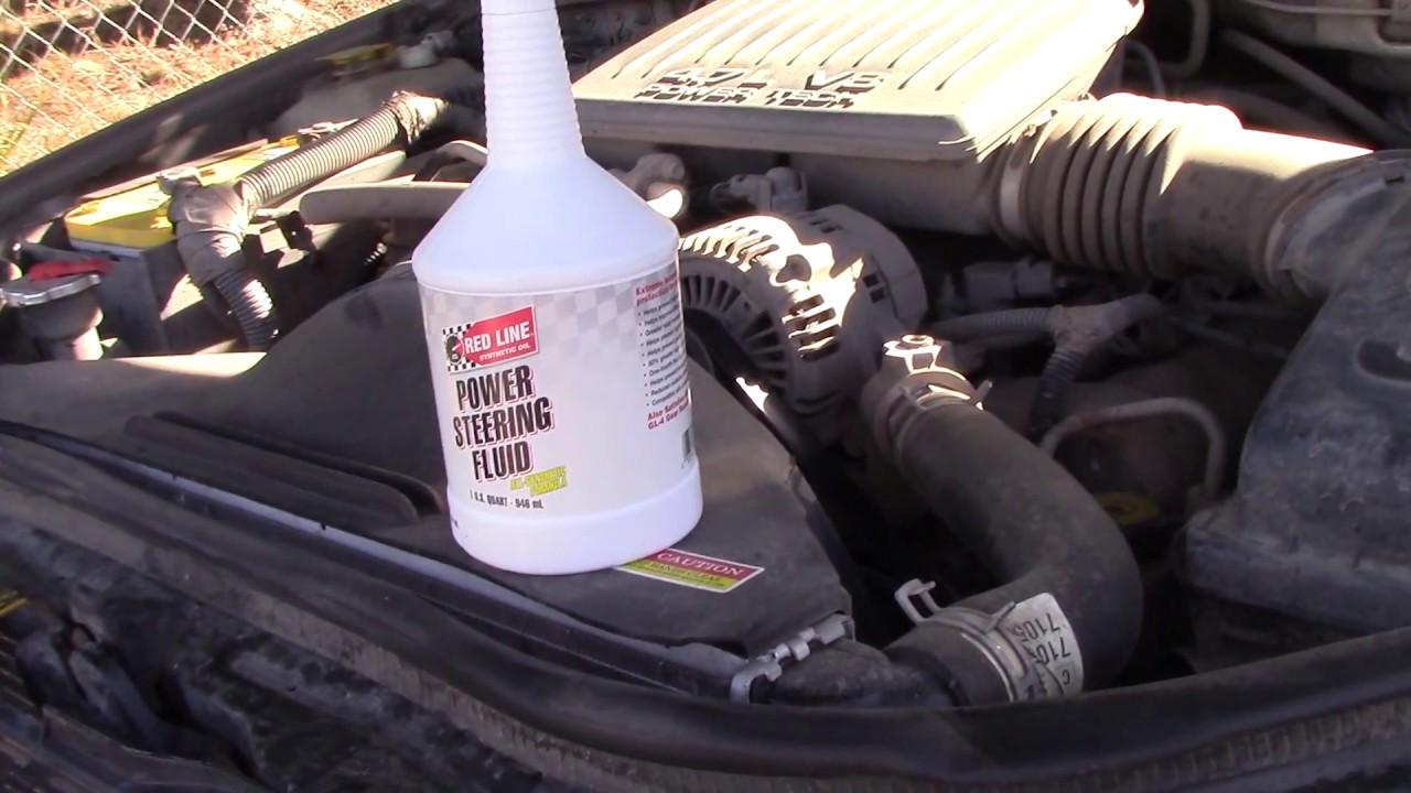 1999-2004 Jeep Grand Cherokee Power Steering Fluid Conversion