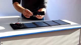 Переносной солнечный модуль 28 Ватт с USB интерфейсом(, 2018-01-25T13:04:01.000Z)