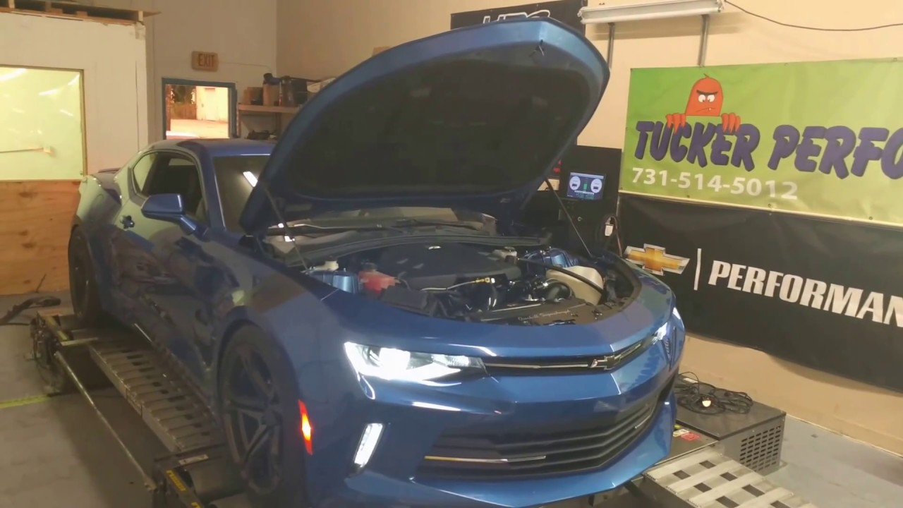 2016 camaro Overkill stage 2 supercharger system on Hyperhawk Dyno round 1