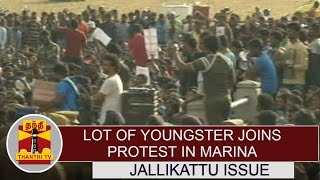 Jallikattu Issue : Lot of youngsters & students joins in Marina Protest | Detailed Report