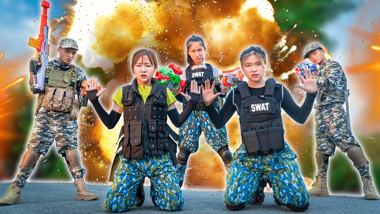 XGirl Nerf War squad MARINES girl guerrilla tactics nerf & X Girl Nerf Guns unbeaten group