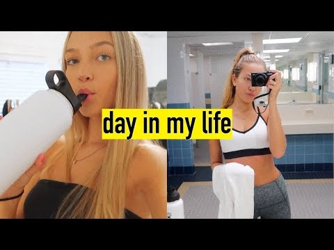 day in my life vlog: working out, closet cleanout, summer classes | maddie cidlik