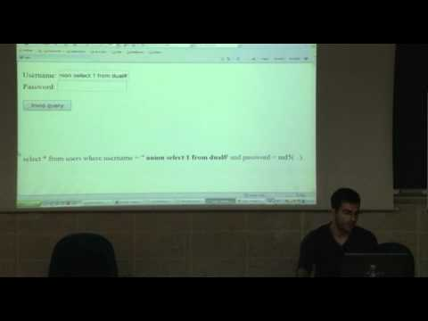 SQL Injection & Cross Site Scripting by Stefano Santomauro