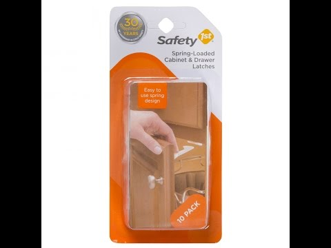Safety First Spring Loaded Cabinet Latches Installation
