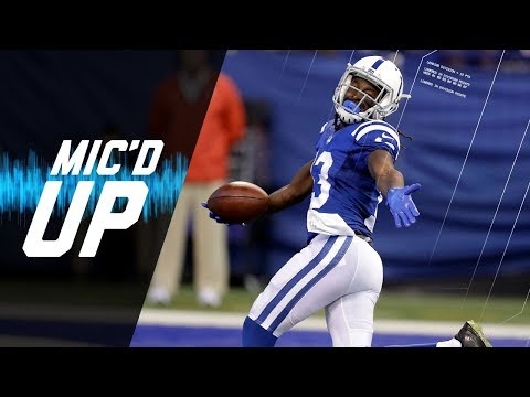 """T. Y. Hilton Mic'd Up vs. Browns """"If He Stay Flat-Footed I'm Out of Here""""   NFL Films   Sound FX"""