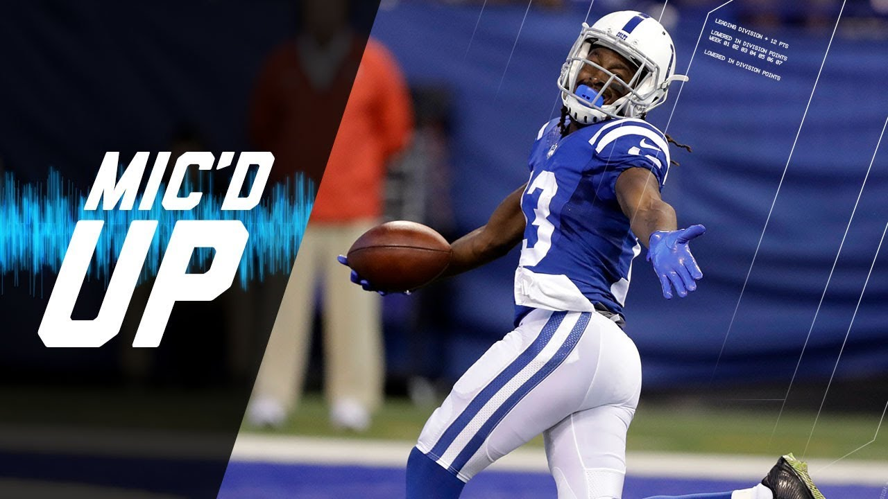 """T Y Hilton Mic d Up vs Browns """"If He Stay Flat Footed I m Out"""