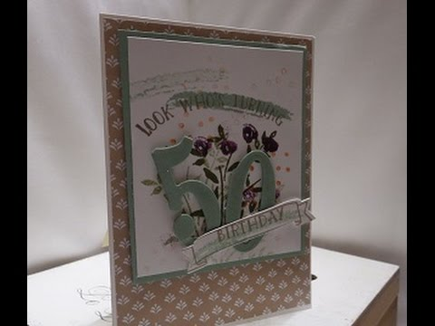 Number Of Years 50th Birthday Card With Large Numbers Dies Stampin