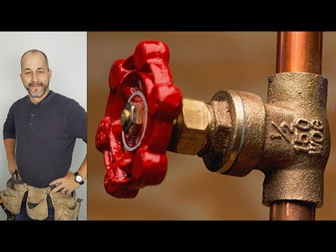 How to Turn off the Main Water Supply Line to your House