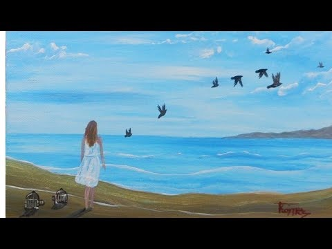 Freedom – Acrylic Painting on Canvas for Beginners