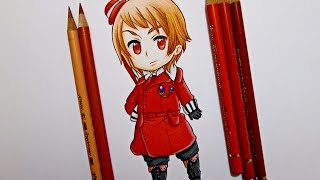Drawing Chibi Romania || Hetalia ヘタリア