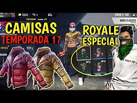CAMISAS TEMPORADA 16 E 17 DO FREE FIRE E MAIS!