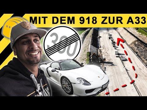 JP Performance - mit Porsche 918 Spyder zur Autobahn Baustelle! Doku Autobahnbau A33