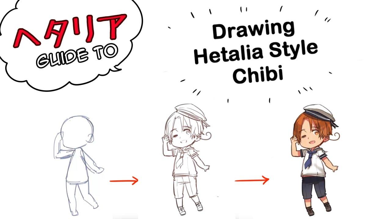 【ヘタリア How 】drawing A Hetalia Chibi Youtube