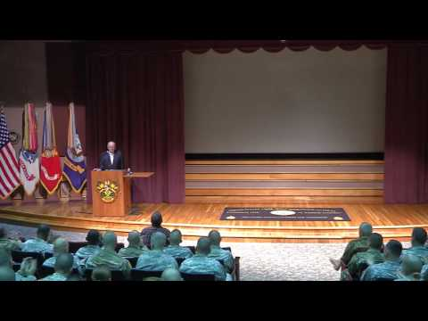 Gen. Gordon Sullivan USASMA Visit and Ron Fraser Civilian Award ceremony