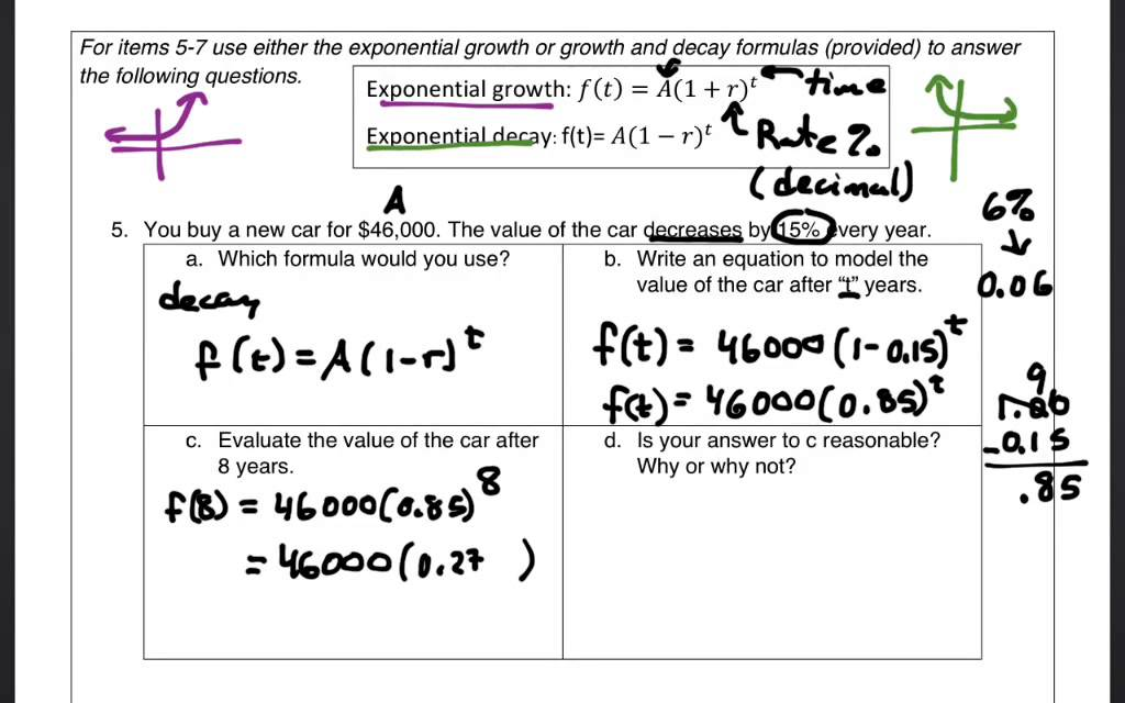 how to find the equation of exponential decay