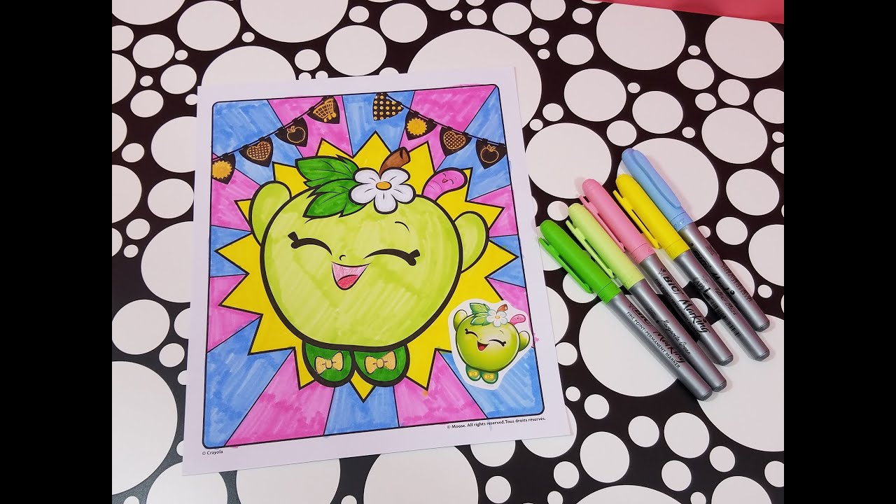 SHOPKINS Apple Blossom Coloring Page