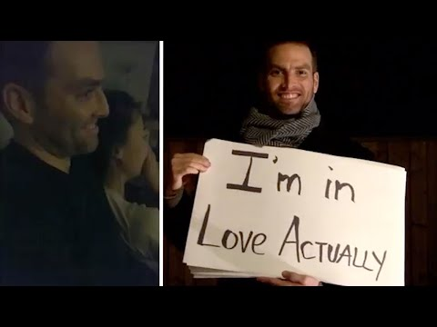 Man Recreates Famous Love Actually Scene To Propose
