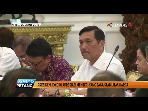 Jokowi Apresiasi Menteri yang Jaga Stabilitas Harga