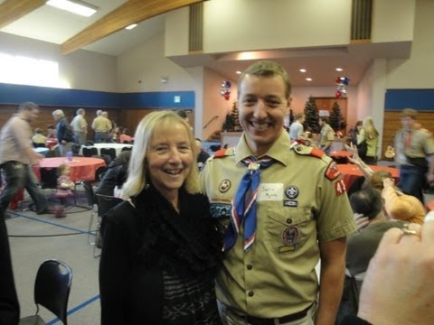Surprise party for Chris Myers 30th Anniversary as Scoutmaster