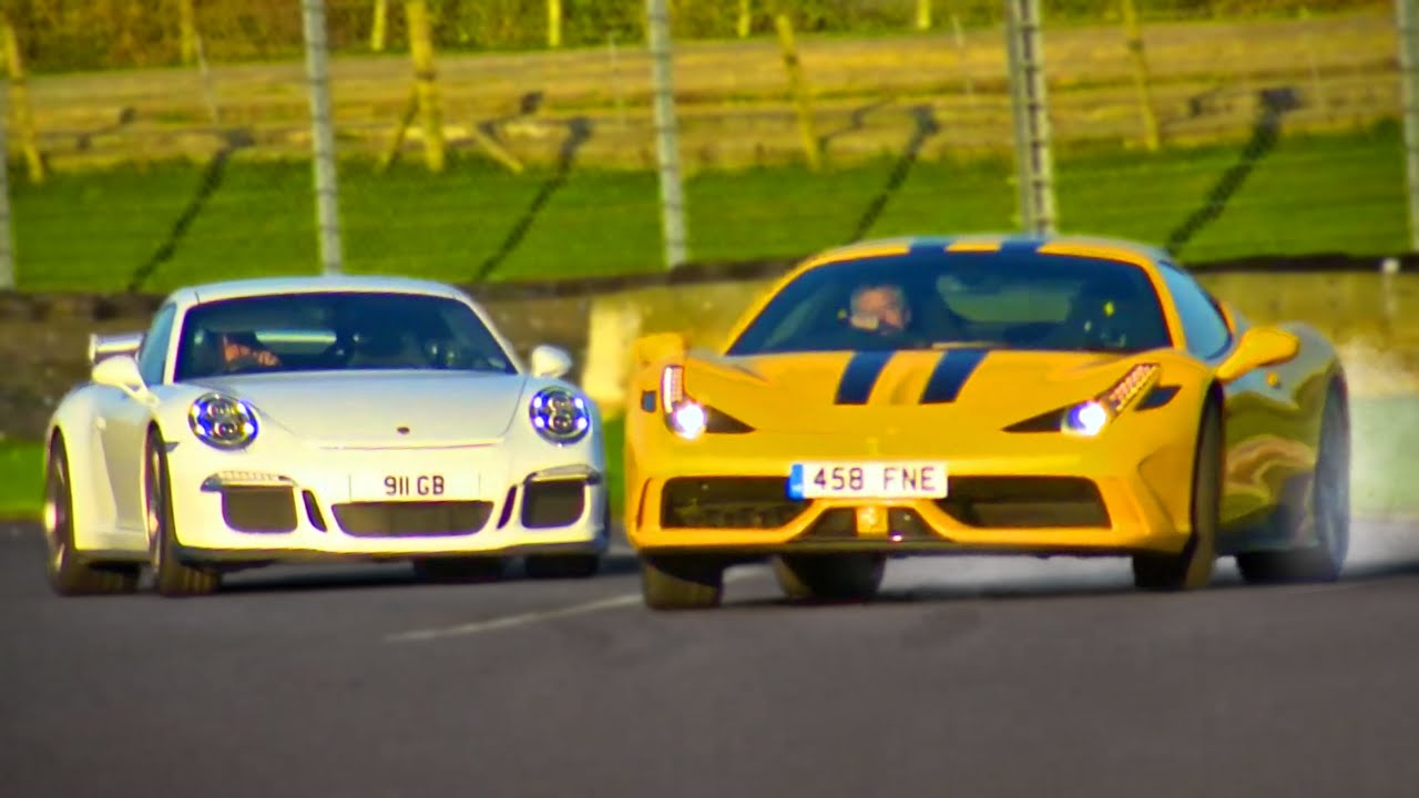 ferrari 458 speciale vs porsche 911 gt3 fifth gear youtube. Black Bedroom Furniture Sets. Home Design Ideas